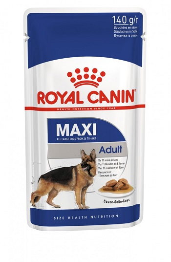 Корм для собак крупных пород Royal canin Макси Эдалт в соусе 0,140 кг.