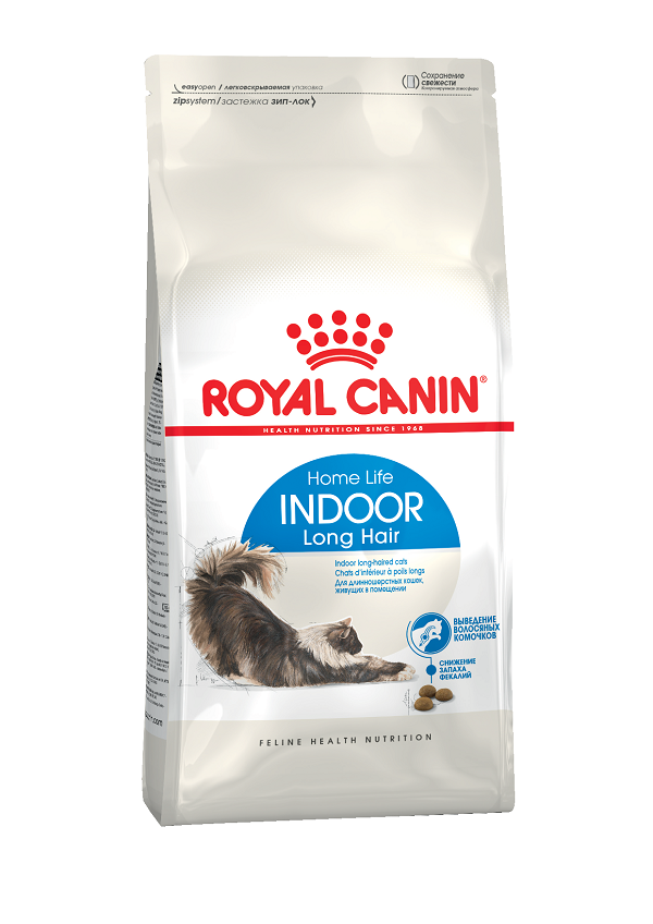 Корм для домашних длинношерстных кошек Royal Canin, 0,4 кг